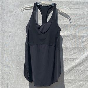 Lululemon black tank with sports bra